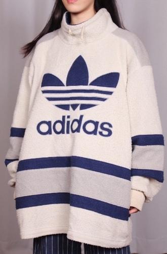 jacket thrift adidas cowneck sweater sportswear