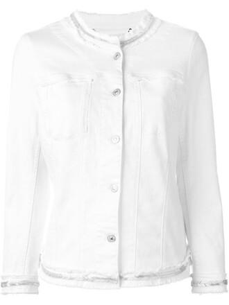 jacket denim jacket denim embellished white