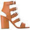 Laurence dacade - ankle length sandals - women - leather/camel leather - 37.5, nude/neutrals, leather/camel leather