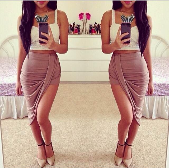 Mina skirt (mocha) – the xclusiiv boutique