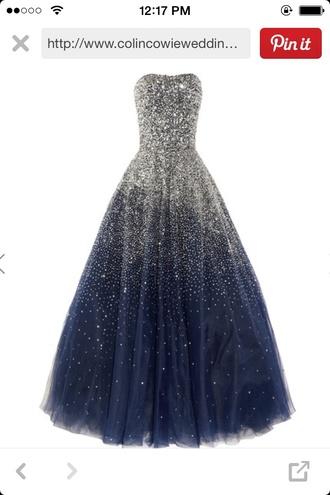 dress blue dress sparkly dress style prom dress glitter dress gown