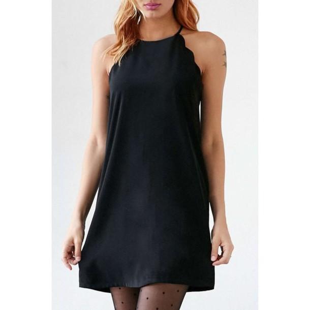 Dress Halter Neck Halter Top Halter Dress Halter Neck Black