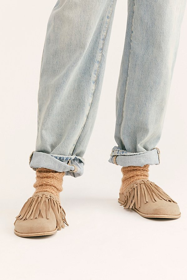 Odessa Fringed Footbed Slides by FP Collection at Free People