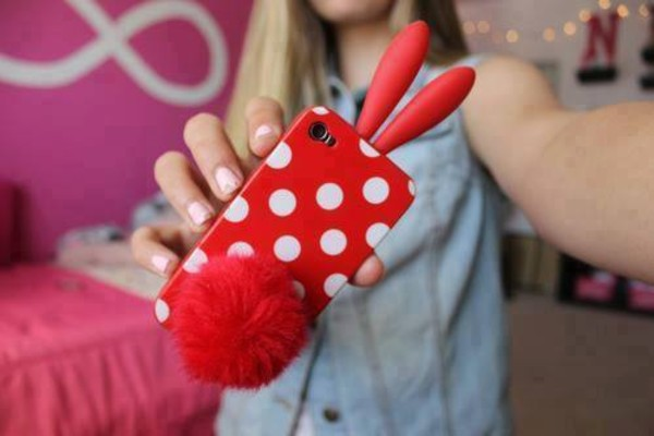 jewels iphone cover polka dots