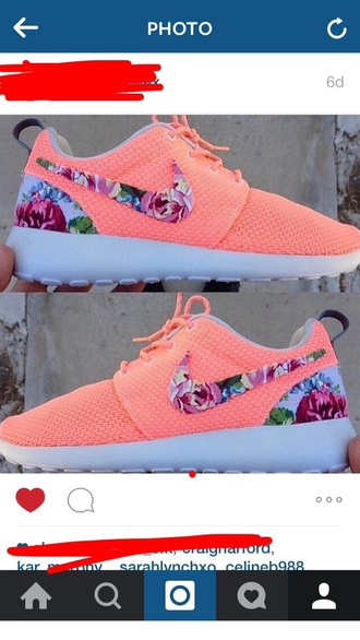 shoes pink floral pink shoes nike running shoes nike free run