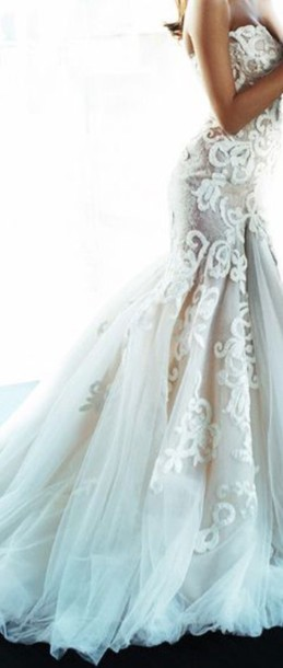 dress wedding dress lace wedding dress mermaid wedding dress gorgeous dress