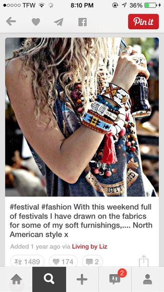 boho jewels hippie bracelets festival fashion