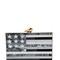 Merrick american flag perspex clutch