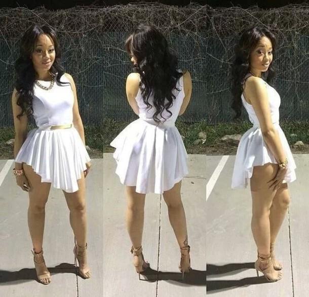 dress belt fit and flare dress white dress white mini dress dress