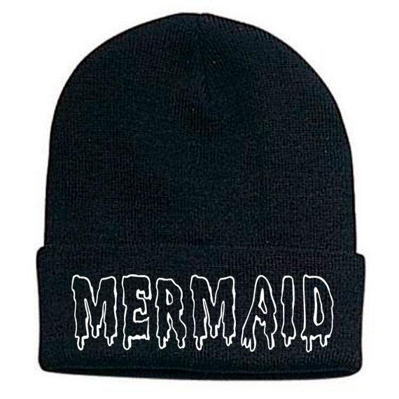 Mermaid beanie by CustomZonee on Etsy