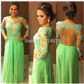 dress,prom dress,party dress,eveing dresses,mother of the bride dress,lace prom dress,long sleeve evening dress,backless prom dress,long dress