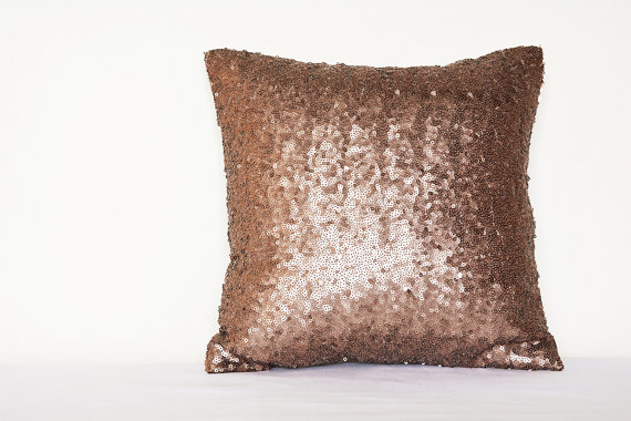 40% Off Copper Bronze Sequin Pillow Cover Holiday Decor Throw Gorgeous Bronze Decorative Pillows