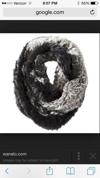 scarf gray fur infinity scarf fur scarf