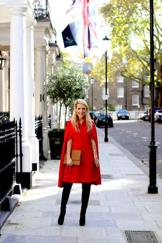 krystal schlegel blogger pouch cape red