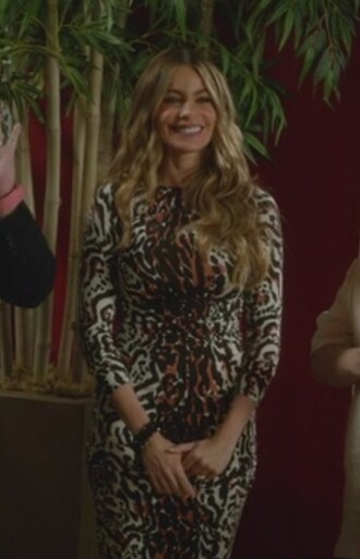 dress leopard print sofia vergara modern family gloria pritchett