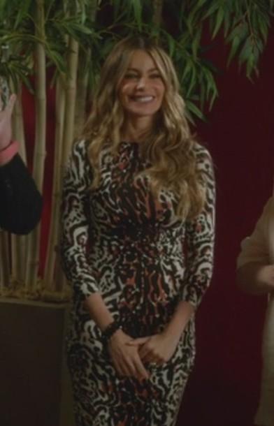 Dress leopard print sofia vergara modern family gloria for Modern family printer
