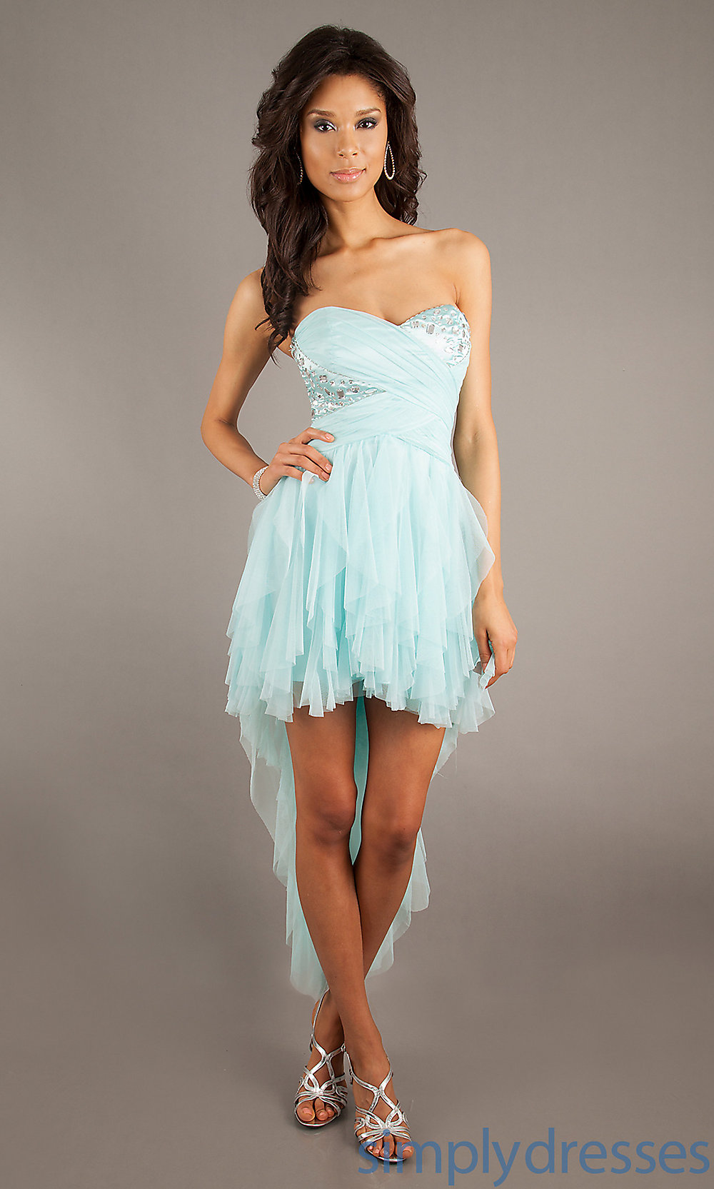 High Low Party Dress by LA Glo 22289