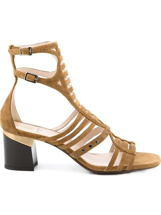 metal strappy women sandals strappy sandals suede brown shoes