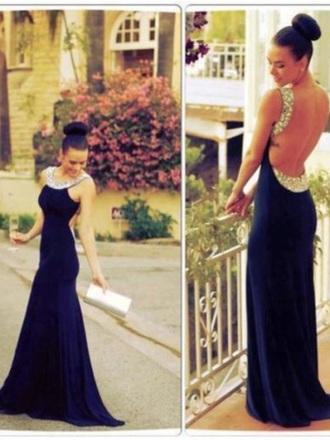 dress prom navy prom dress