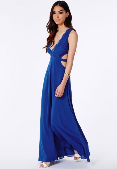 Bakiya Lace Cut Out Maxi Dress - Dresses - Maxi Dresses - Missguided
