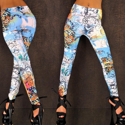 Fashion shopping mall — [gzxy0200]fashion floral print elastic leggings