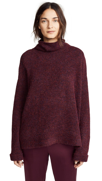 turtleneck red sweater