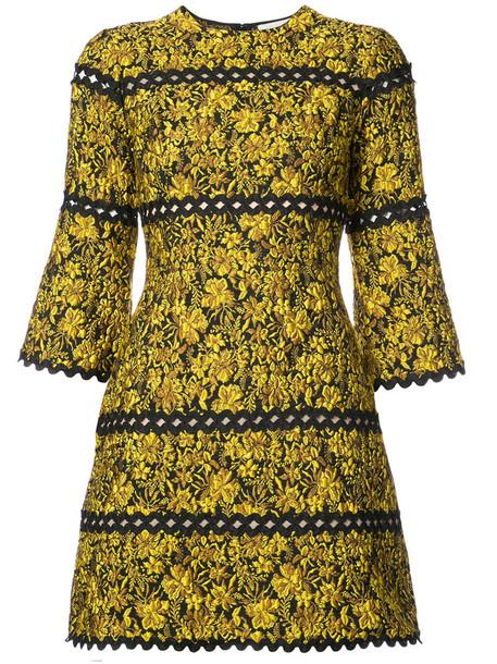 dress print dress women floral print yellow orange