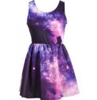 purple galaxy dress