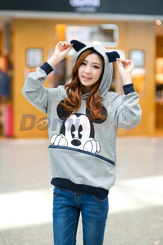 2013 hot autumn and winter MICKEY hoody lovers shirt Mickey Mouse sweatshirt hooded cartoon-in Hoodies & Sweatshirts from Apparel & Accessories on Aliexpress.com