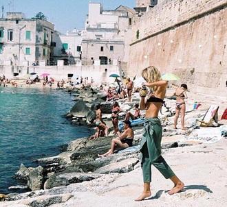 pants green summer blue loose skorts skirt cool hot beach sun black high waisted pants yoga pants loose pants chill