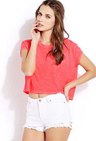 Fresh Mineral Wash Cropped Tee | FOREVER21 - 2000064505