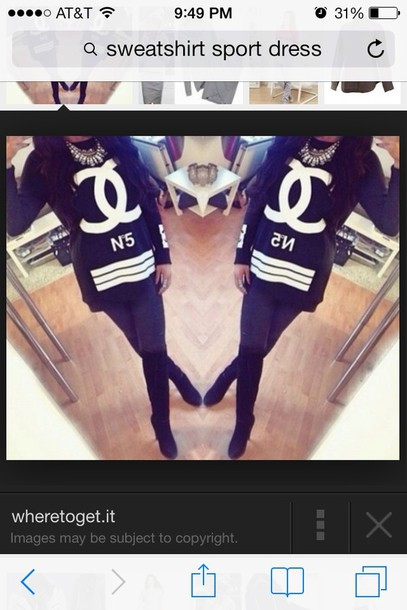 dress chanel t-shirt