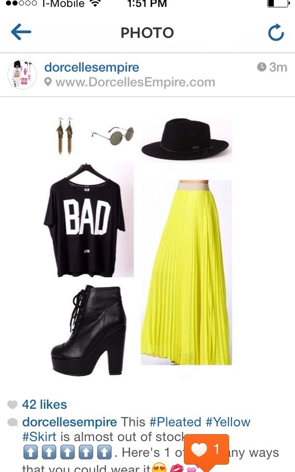 skirt style pleated skirt yellow fashion maxi skirt