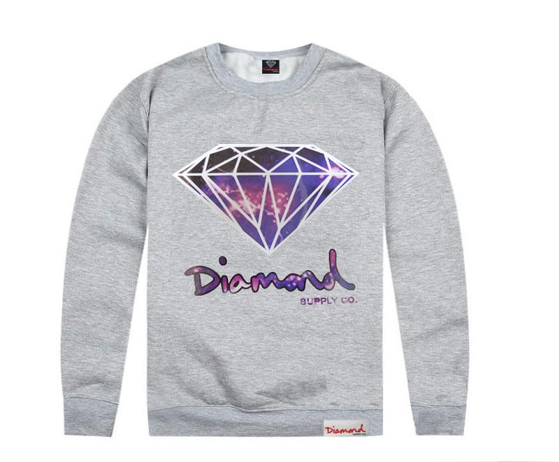 Diamond Supply Co Sweatshirt Grey Crew Neck Jumper Cheap ... - photo#32