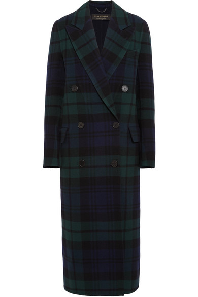 Burberry - Double-breasted tartan wool and cashmere-blend coat