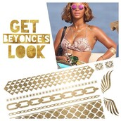 jewels,jewel cult,beyonce tattoos,temporary tattoo,fashion tats,fashion tattoos,metallic tattoo,metallic tattoos,gold tattoos,beyonce,beyonce style,beyonce fashion,tattoo