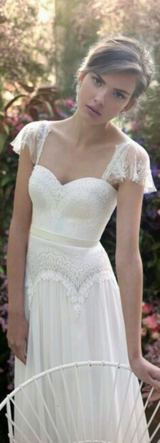dress wedding dress wedding cap sleeves cap sleeve dress lace dress