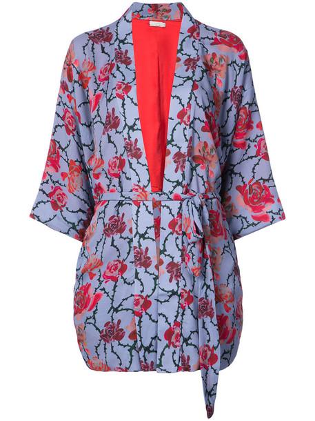 Fleur du Mal kimono women silk top