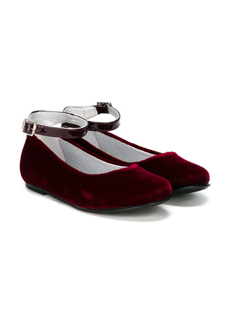 Stuart Weitzman Kids shoes leather velvet red