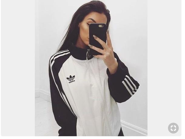 jacket adidas half crop top hoodie