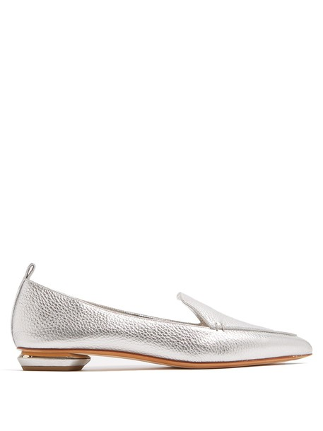 Nicholas Kirkwood loafers leather silver shoes