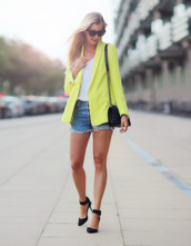 passions for fashion,blogger,jacket,shoes,bag,sunglasses,jewels,shorts,tank top