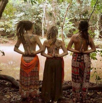 skirt hippie