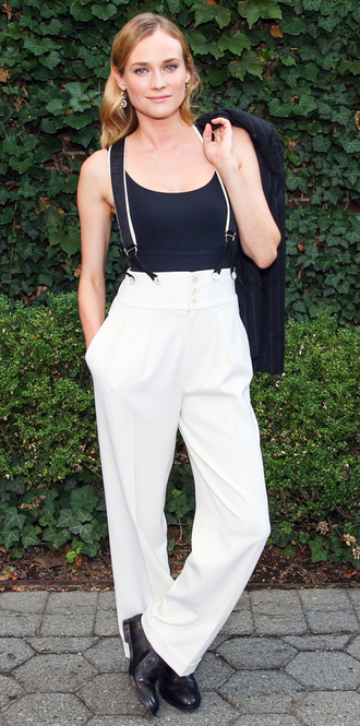 pants suspenders diane kruger top belt