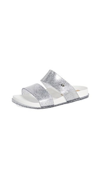 Melissa sandals silver white shoes