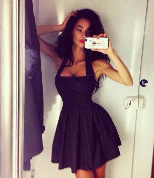 Fashion sexy black sleeveless dress lk1211dc