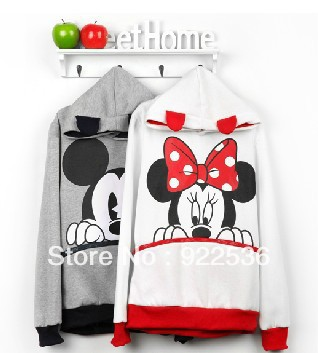 autumn and winter Mickey Mouse sweatshirt hooded cartoon MICKEY hoody lovers shirt 11186-in Hoodies & Sweatshirts from Apparel & Accessories on Aliexpress.com