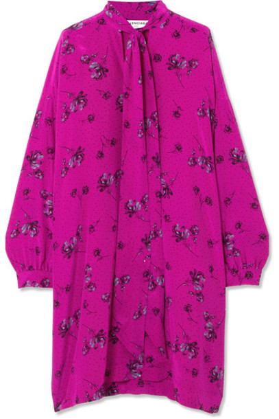 dress bow silk pink
