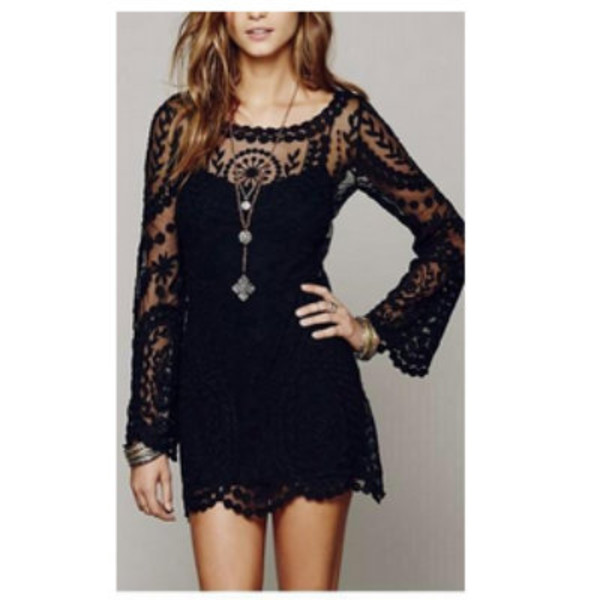 dress black dress boho little black dress boho dress