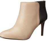 shoes,booties,nude,black,heel,kitten heels